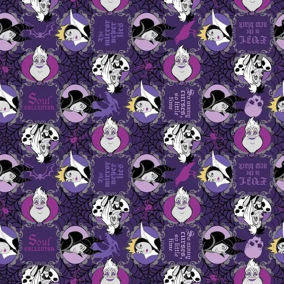 Disney Fabric Disney Villains Fabric Disney Villains Evil