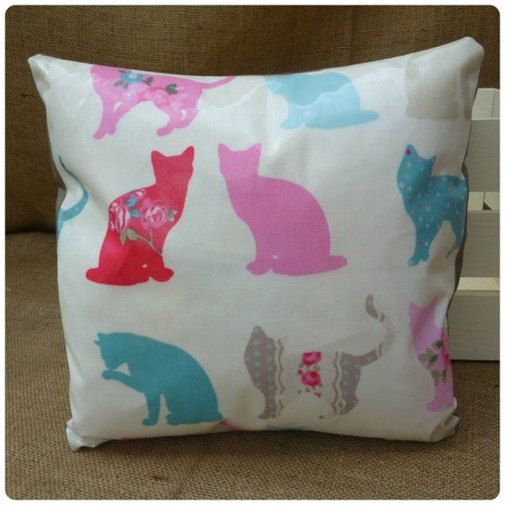 Garden Cushion, Cat Pillow, Garden Decor, Conservatory Decor, Conservatory Cushion, Garden Furniture, Outdoor Cushion, Housewarming Gift