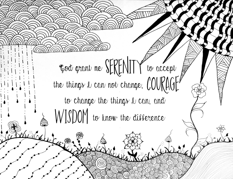 Serenity Prayer Coloring Page