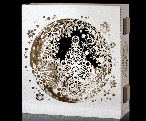 Pop Up Christmas Cards 3d Christmas Gift For Her By