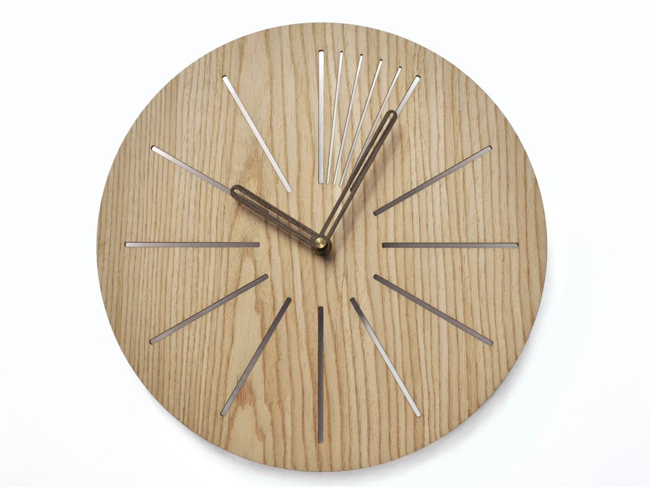 Industrial Wall Clock Modern Wooden Clock Geometric Clock