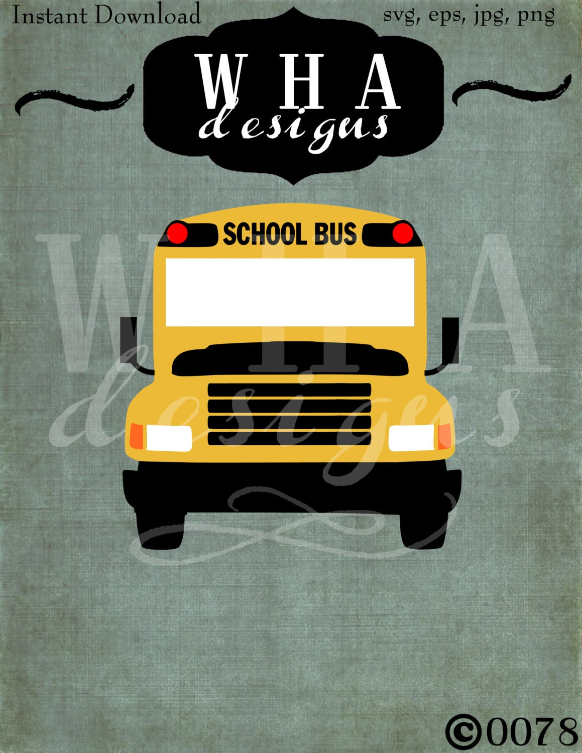 School Bus Vector Cutting File Graphic Design Svg