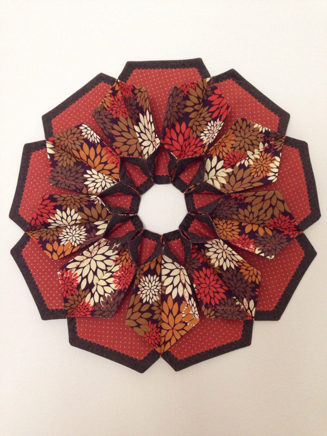 The Blossom Wreath Table Topper Candle Mat Fall