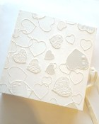 Photo Album: 80 Page Lace, Satin, Heart Wedding Scrapbook, Paperchase, White, Ivory