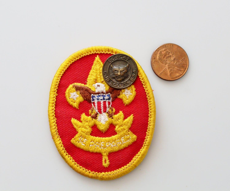 Vintage Brass Cub Scout Pin Brass Bobcat Pin Boy Scouts Of