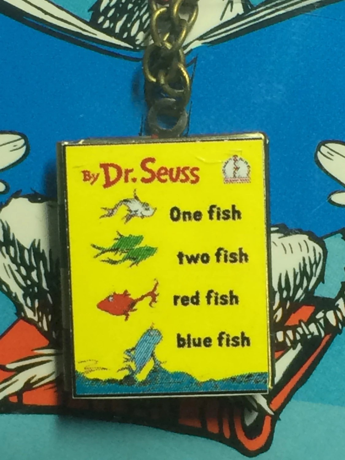 One Fish Two Fish Red Fish Blue Fish Book Cover Locket