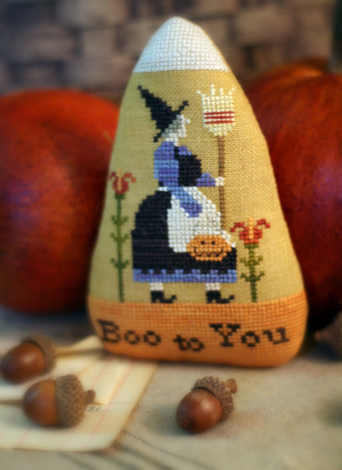 Pattern Candy Corn Cross Stitch Country Stitches With Thy