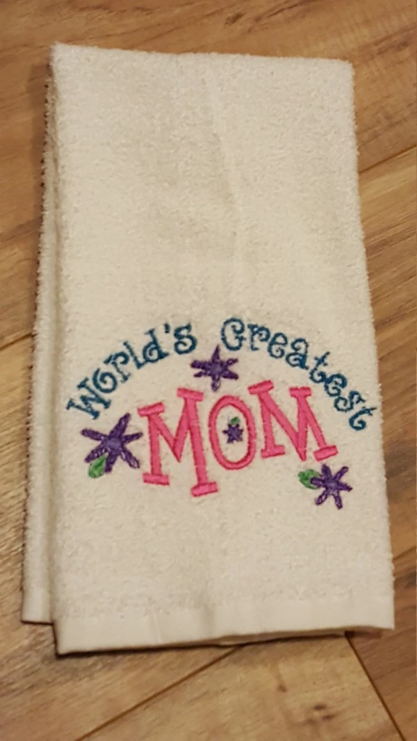 Hand towel mom mother's day birthday world's