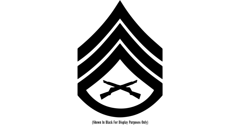 E 6 Staff Sergeant Ssgt Usmc Chevron Rank Insignia Vinyl Decal