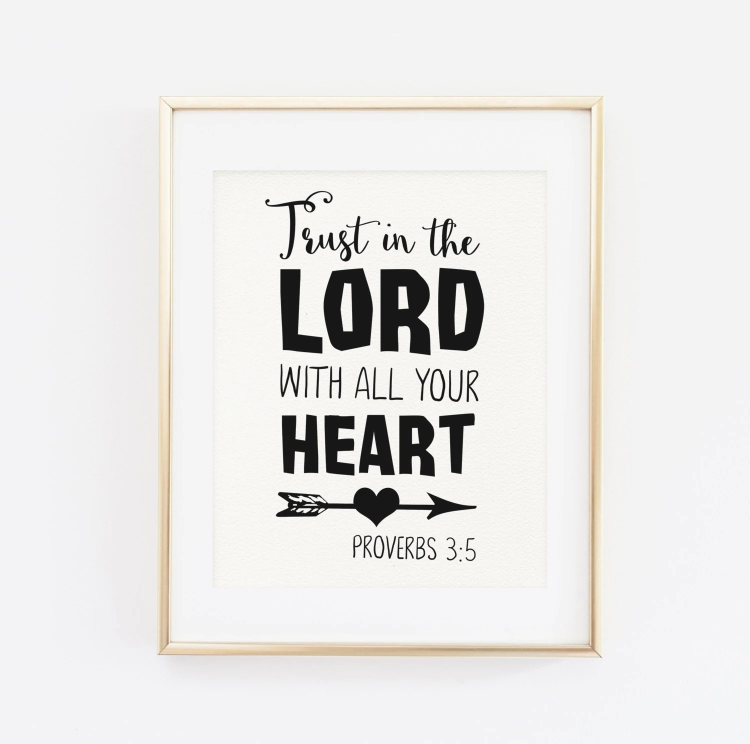 Scripture Printable Wall Art Bible Verse Trust In The Lord