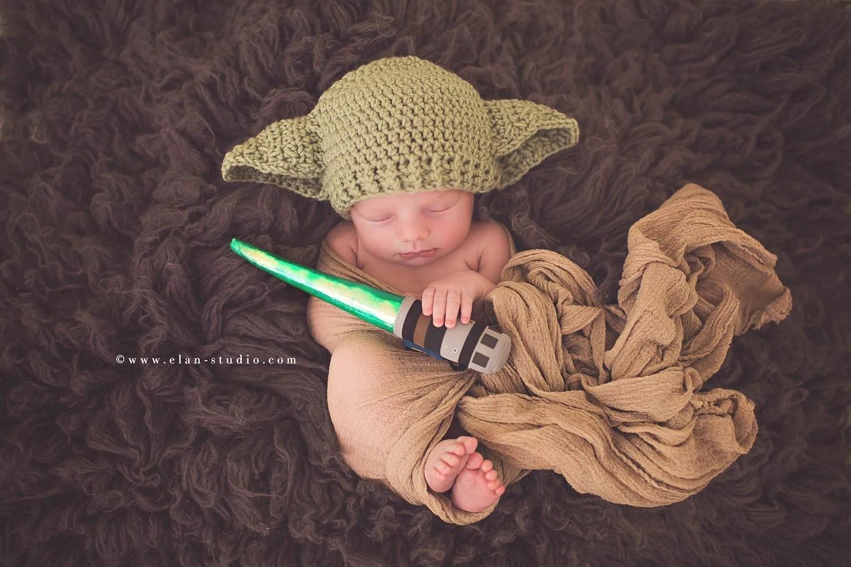 Star Wars Baby Yoda Hat Preemie Newborn 0 3m 6m Crochet Photo