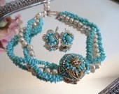 Faux Pearl and Turquoise ...