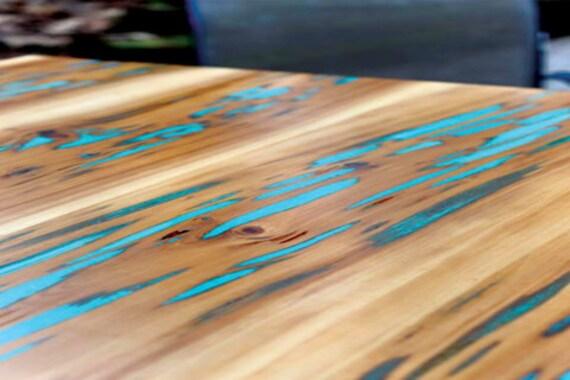 Cypress Glow Pecky Table
