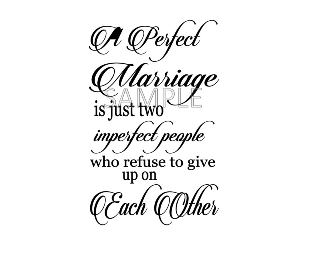 Download A Perfect Marriage is two imperfect people Digital File Only