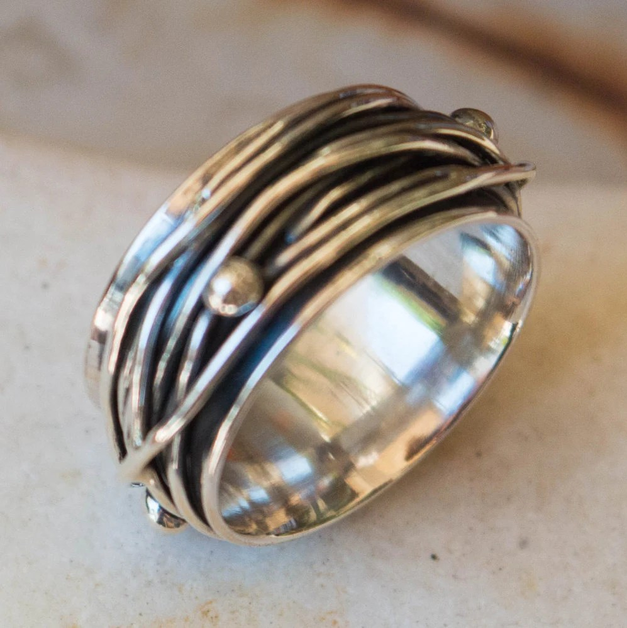 Sterling Silver Ring Band Ring Mens Ring Thumb Ring