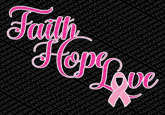 Download Faith Hope Love Ribbon SVG DXF EPS Cut File for Cameo and