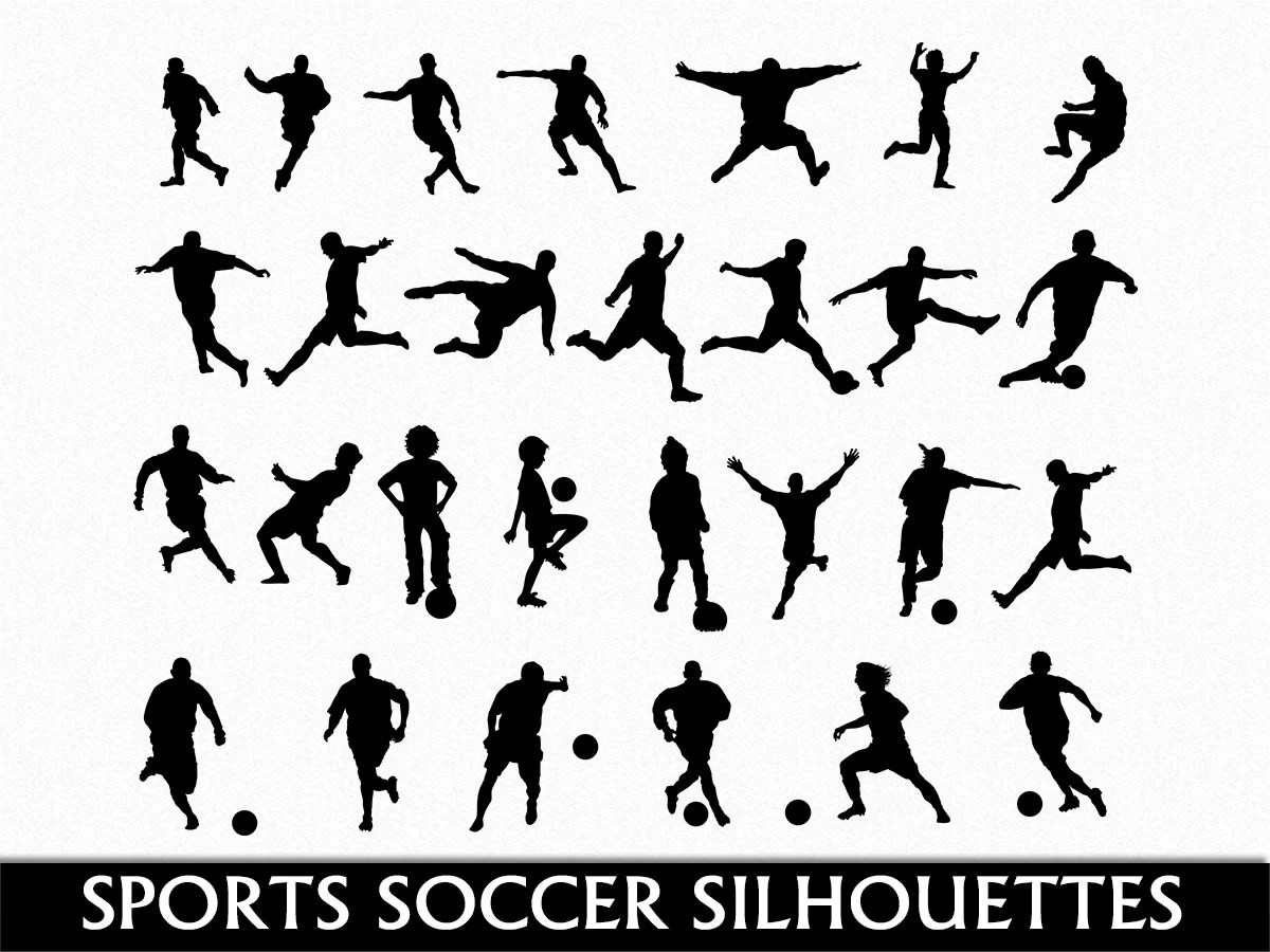 Soccer Clip Art Graphic Football Sports Clipart Digital