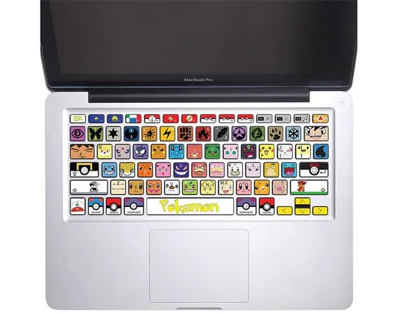 "Pokemon Keyboard Stickers MacBook Pro 13, 15, 17 and MacBook Air 11"", 13"" KB-0001"