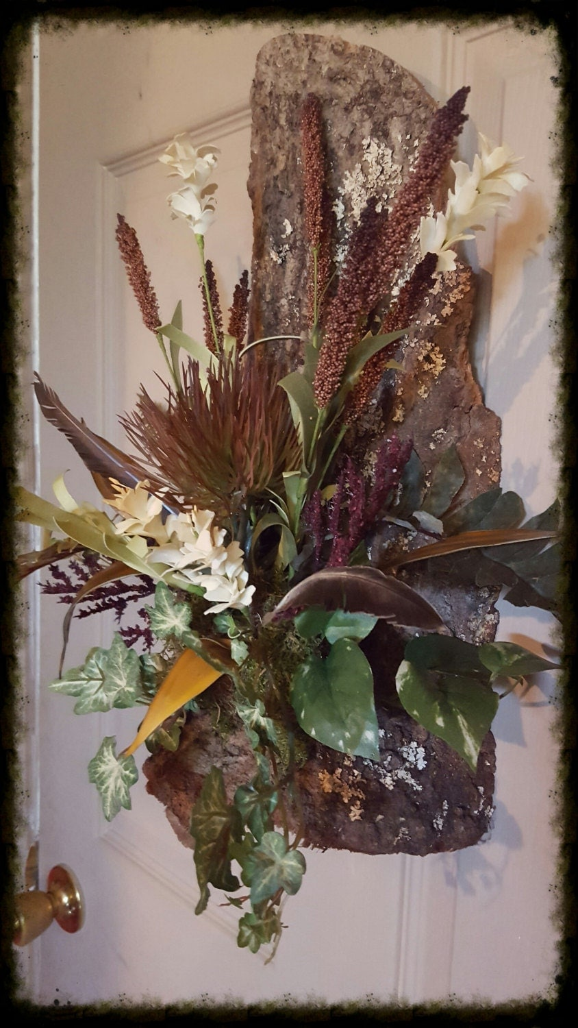 Cow Horn Floral Arrangement Wall Sconce on by TailsEndFlorals on Wall Sconce Floral Arrangements Arrangement id=87408