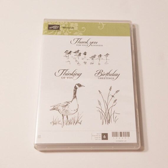 Stampin' Up Wetlands clear mount rubber stamp set
