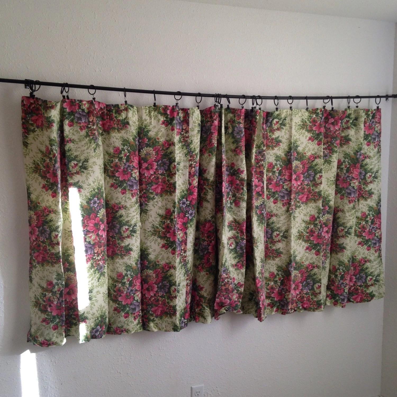 Vintage Floral Curtains Vintage Short Wide Curtains Vintage