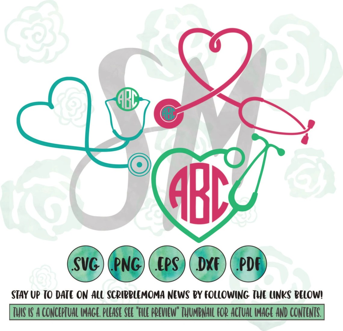 Download Nurse Monogram SVG Nurse SVG Files Nurse Cricut by ...