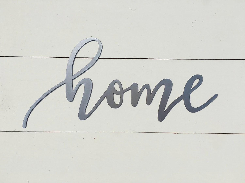 Home Metal Word Sign 14 5 X 7 Farmhouse Decor