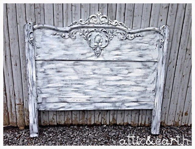Shabby Chic Queen Headboard By Atticandearth On Etsy