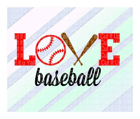 Download Love Baseball Svg-Dxf-Studio 3 Cutting Files for by ...