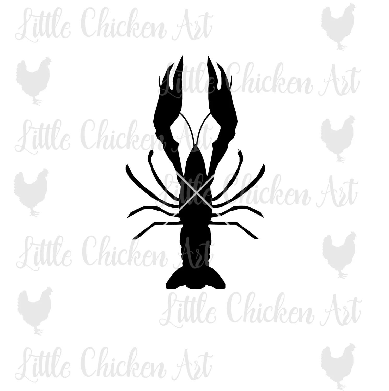 Crawfish Clip Art Cut File Svg Silhouette Cameo