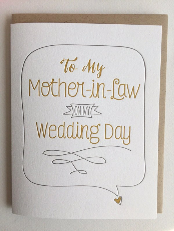 Mother of the Groom Card Mother in Law Card Mother of the