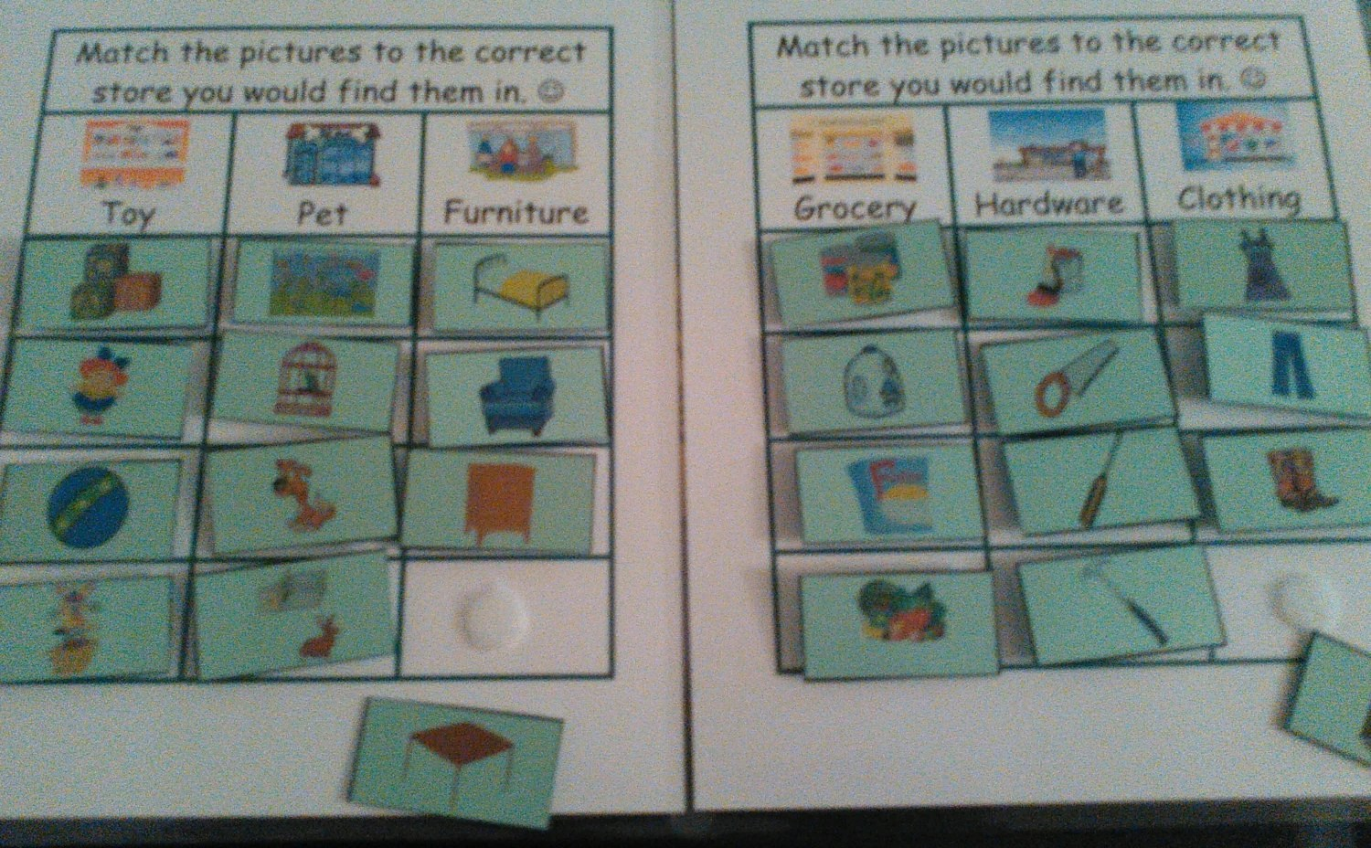 Stores Velcro Match Grouping Sorting By Kidslearningtools
