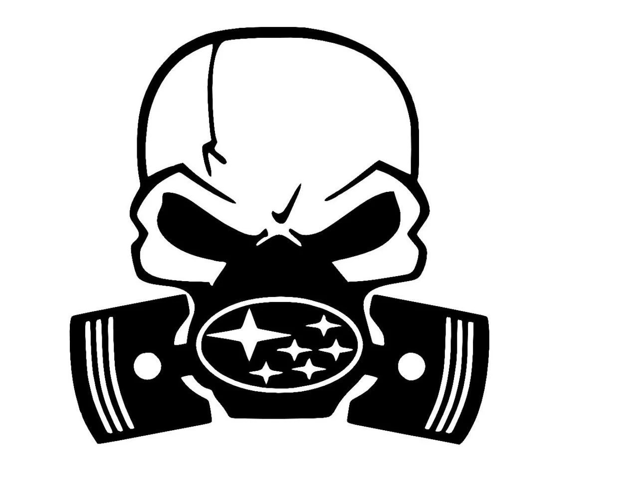 Skull Decal Gas Mask With Any Car Truck Motorcycle