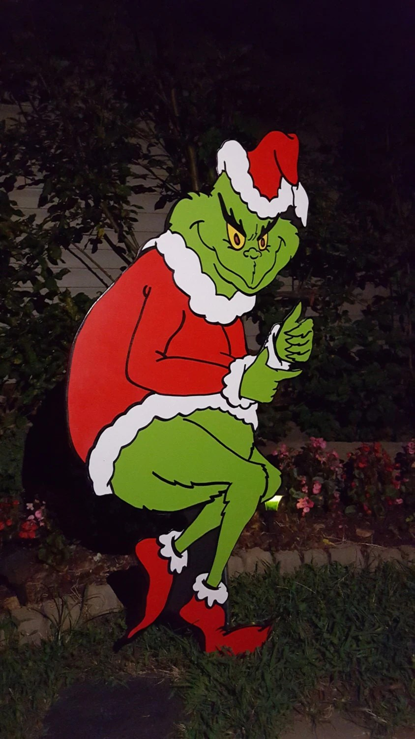 grinch stealing christmas lights template - Grinch Stealing Christmas Lights