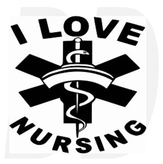 Download Items similar to I love Nursing svg, dxf, eps cutting ...