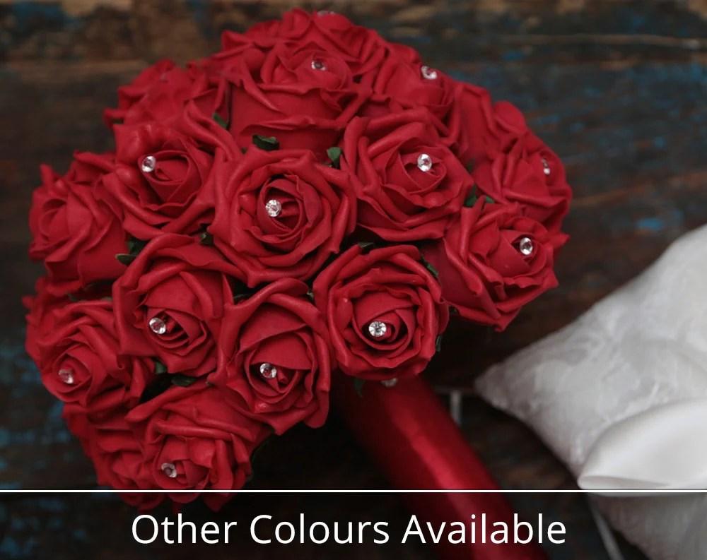 Foam Rose Posy All Colours Foam Wedding Flowers