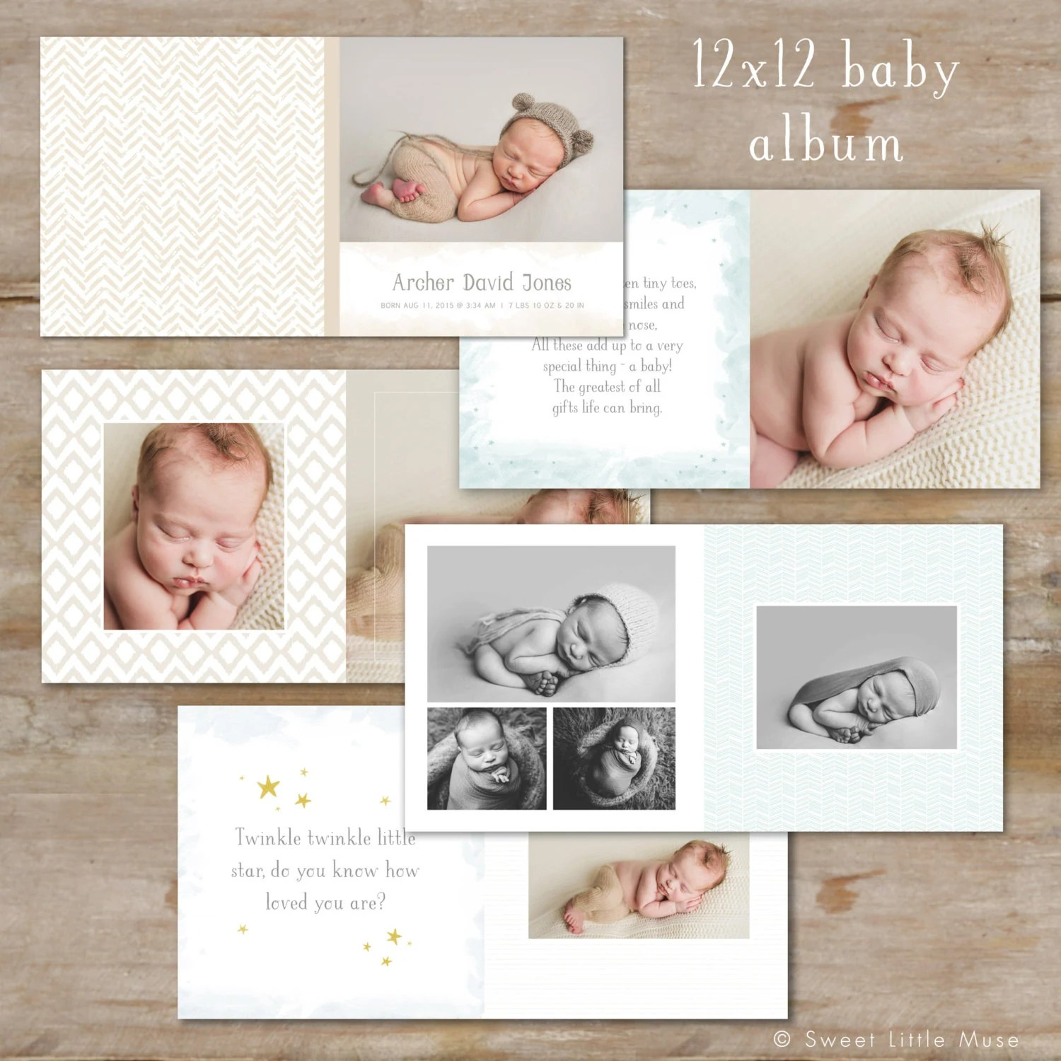 Baby Album Template For Photographers Baby Boy Photo Book