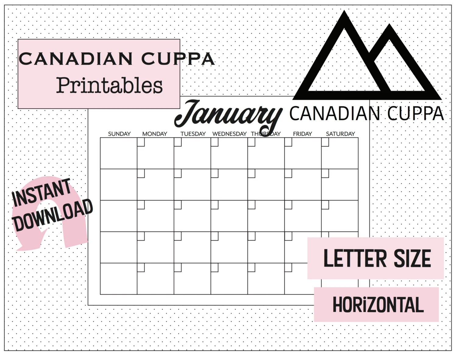 Printable Blank Calendar 12 Months Sunday To Saturday