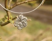 Silver leaf bangle bracel...