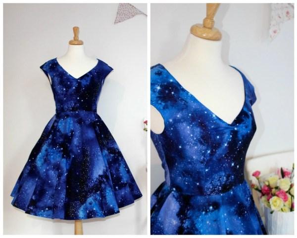Space dust dress galaxy dress with pockets star wars geek