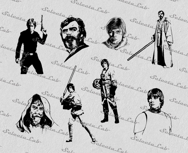 Digital Svg Luke Skywalker Star Wars Inspired Anakin