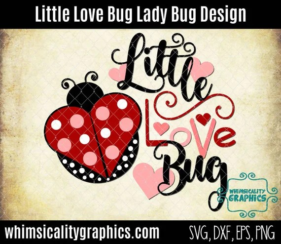 Download Little Love Bug Lady Bug with svg dxf png and eps Commercial