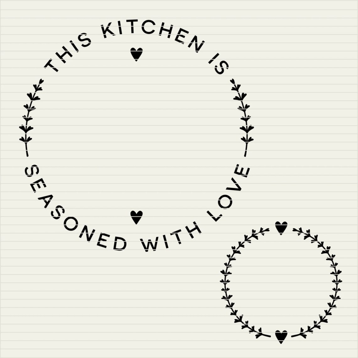 Download DIY personalize SVG Kitchen Seasoned with Love frame ...