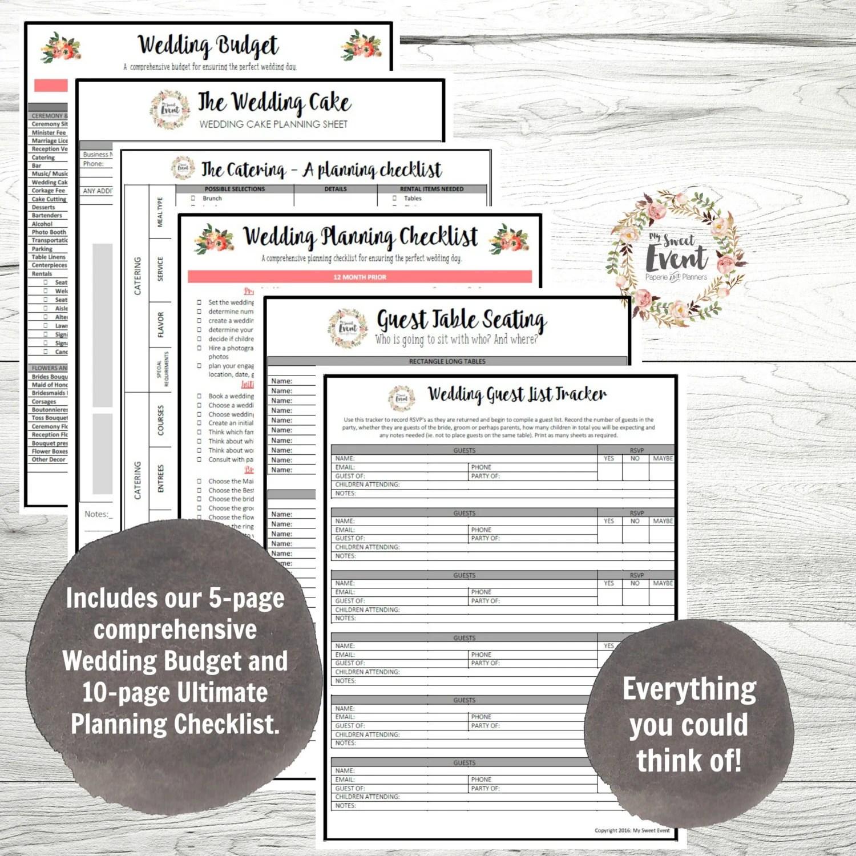 Wedding Planner Printable Wedding Binder Diy Planning