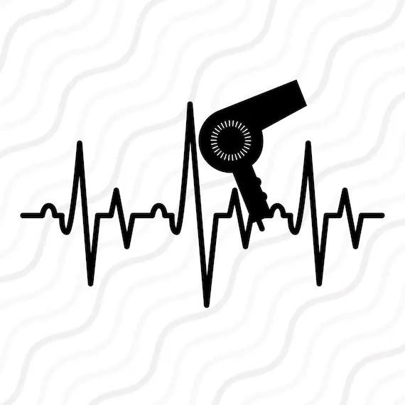 Download Hair Dryer Heartbeat SVG, Salon SVG, Heartbeat SVG Cut ...