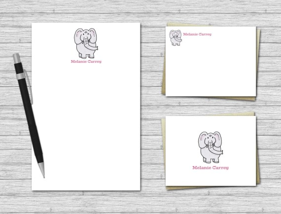 Elephant Stationery Set for Kids