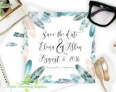 Boho Chic Save The Date �...