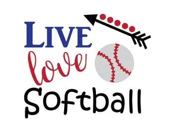 Download Live love softball | Etsy