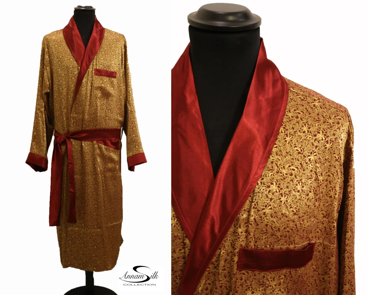 Silk Sleeping Gown For Men Ideal Gift For Father SILK
