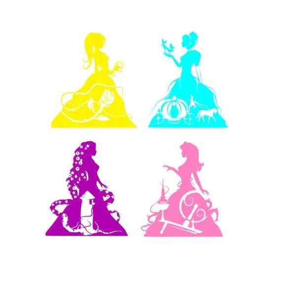 Download Disney Princess Cut File SVG PNG DXF Disney Princess from ...